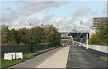 TQ3783 : The Olympic Stadium along The Greenway by N Chadwick
