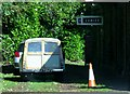 SO5300 : Morris Traveller, Tintern Old Station by nick macneill