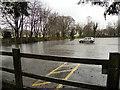 SU2103 : Flooding at Burley Car Park by David Dixon