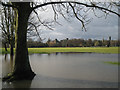 SP2964 : Flooding, St Nicholas Park, Christmas Day 2012 by Robin Stott