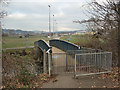 SS8983 : Footbridge over the River Ogmore, Sarn by eswales