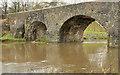 J3269 : The muddy River Lagan, Shaw's Bridge, Belfast by Albert Bridge