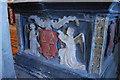 SO5634 : Scudamore coat of Arms on Memorial to John by Julian P Guffogg