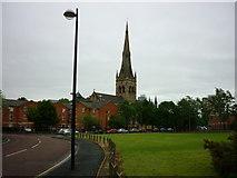 SJ8298 : Salford Cathedral by Carroll Pierce