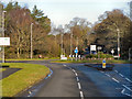 SY9390 : Roundabout on Sandford Road (A351) by David Dixon