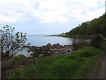 J4482 : Cliff edged bay west of Helen's Bay by Eric Jones