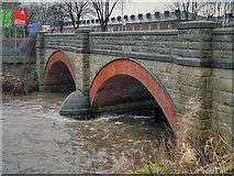 SD7909 : River Irwell at Warth Bridge by David Dixon