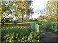 SK2602 : Bridges in Abbey Green Park, Polesworth by Robin Stott