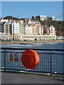 SZ1190 : Boscombe: lifebuoy at the pier head by Chris Downer