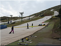NT2466 : The foot of the ski slope by M J Richardson