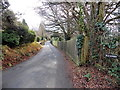 ST3094 : Long wooden fence at the edge of Crown Road, Cwmbran by Jaggery