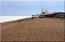 TR3752 : Boats on the beach by Steve Daniels