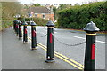 SZ4795 : Bollards on Shore Road by Graham Horn