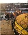 NZ9011 : The steps, Whitby by Derek Harper