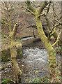 SS9088 : The Afon Garw south of Pont-y-rhyl by eswales