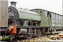 SN4124 : Former GWR 0-4-0ST on Gwili Railway at Bronwydd Arms, 1992 by Ben Brooksbank