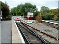 ST6670 : Level crossing gates, Bitton station by Jaggery