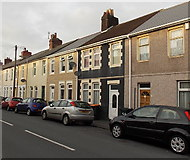 ST3288 : Conway Road houses west of Carisbrooke Road, Newport by Jaggery