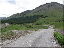 NM9184 : View down Glen Finnan along new track near Glenfinnan Lodge by Colin Park