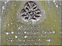 NY9257 : St. Helen's Church, Whitley Chapel - gravestone detail by Andrew Curtis