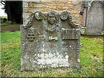 NY9257 : St. Helen's Church, Whitley Chapel - gravestone by Andrew Curtis