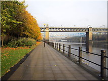 NZ2463 : Quayside path, Newcastle upon Tyne by Graham Robson