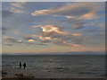 NJ0364 : Moray Firth Skyscape from Findhorn by Anne Burgess