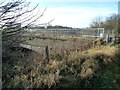SE4232 : Gated and fenced railway bridge, Sturton Grange by Christine Johnstone