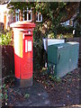 TL1314 : Douglas Road George V Postbox & Telecommunications Box by Adrian Cable