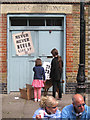 TQ3382 : Doorway, former printers, Ezra Street E2 by Robin Stott