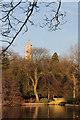 SK5437 : Winter sun at Highfields Park  by Alan Murray-Rust