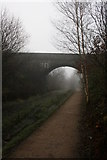 SK0397 : Misty day on the Longdendale Trail by Graham Hogg