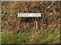 TL0916 : Kennel Lane sign by Adrian Cable
