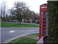 SU1698 : Red telephone box, Whelford by Vieve Forward