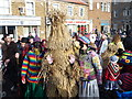 TL2797 : Bear with pink paws - Whittlesea Straw Bear Festival 2013 by Richard Humphrey