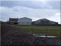 NZ3720 : Farm buildings near Mornington Bridge by JThomas
