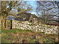 ST4698 : Part of the graveyard wall at Kilgwrrwg church by Jeremy Bolwell