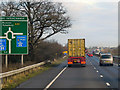 SP5418 : Northbound A34 near Wendlebury Junction by David Dixon
