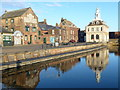 TF6120 : Old warehouses and Custom House, King's Lynn by Richard Humphrey