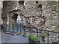 TQ3380 : Pathway through Roman Wall by Roger Jones