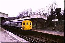 TQ4375 : Eltham Park station by Malc McDonald