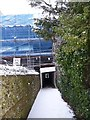 SP9211 : Temporary tunnel on the alley by Rob Farrow