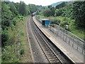 ST0697 : Penrhiwceiber railway station, Mid Glamorgan by Nigel Thompson