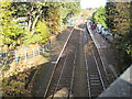 ST1594 : Hengoed (Low Level) railway station, Gwent by Nigel Thompson