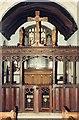 SO8912 : St James the Great, Cranham - Screen by John Salmon