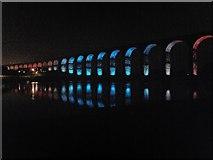 NT9953 : Border Bridge illuminated 1 by Barbara Carr