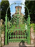 NY5455 : St Peter's Church, Castle Carrock, Gate by Alexander P Kapp