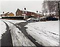 ST3090 : Snowy corner of Laurel Crescent and Pinewood Close, Malpas, Newport by Jaggery