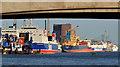 J3475 : Ships, Belfast harbour by Albert Bridge