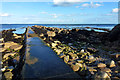 SZ0478 : Sewage pipe at Peveril Point, Swanage by Phil Champion